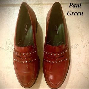 NWOB Paul Green Loafers with Studded Accents
